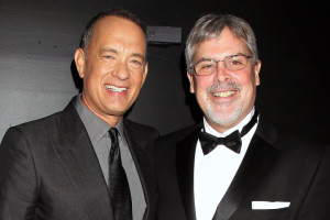 Photo of Tom Hanks and Captain Richard Phillips.  Photo source.