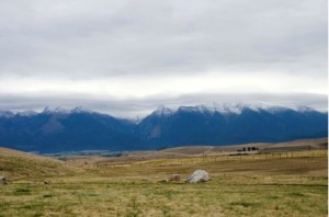 Ravalli Hill Overlook, Flathead Reservation off of U.S. Highway 93.  Photo by author.