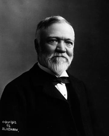 Andrew Carnegie, circa 1896 from here.