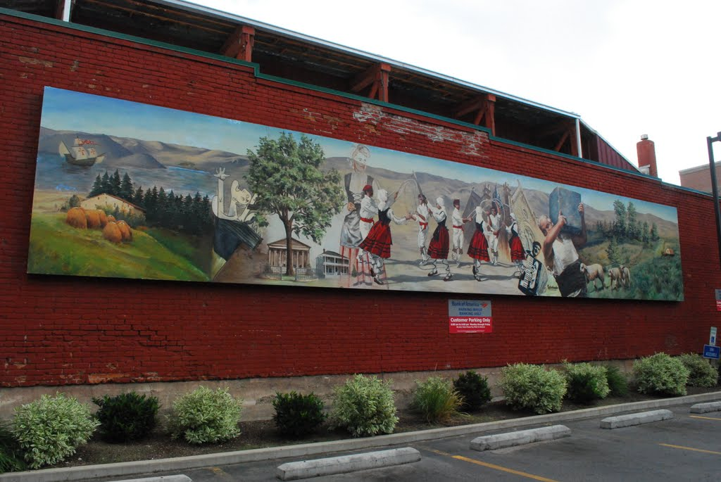 Basque Mural on Capitol Blvd.