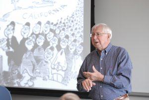 Bob Sims, classroom, History workshop on Japanese Internment camps, jk