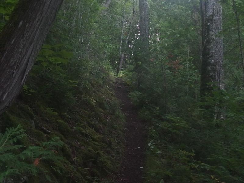 A dark trail leading up towards Windigo