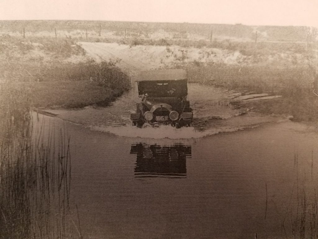 LOT 3559 F Fording a slough 1917